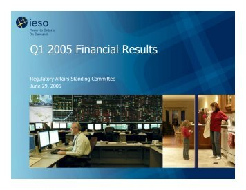 Q1 2005 Financial Results - IESO