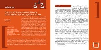 Estudios de casos Cooperación descentralizada alemana del ...