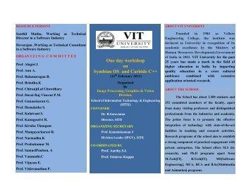 One day workshop on Symbian OS and Carbide C++ - VIT University