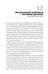 Non-governmental monitoring of international agreements - VERTIC