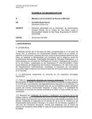 INFORME N°° 007-2003/INDECOPI-CAM A : Miembros de la ...