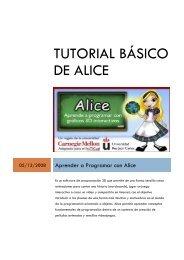 Tutorial Básico de Alice - CIprog | www.upb.edu