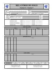 Relatório do Jogo - Associação de Futebol de Braga