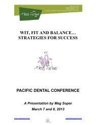 download handout - Pacific Dental Conference