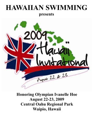 Meet Program - Hawaii Swimming