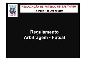 Apresentação do Regulamento - Futsal - Associação de Futebol de ...