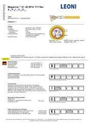 MegaLine ® D1-20 SF/U 11Y flex S P I C E - LEONI Kerpen GmbH ...