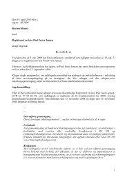 1 Den 19. april 2010 blev i sag nr. 40/2009 ... - Revisornævnet