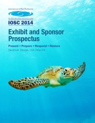 Exhibit and Sponsor Prospectus - International Oil Spill Conference ...
