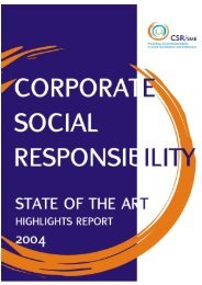 Corporate Social Responsibility: State of the Art Report ... - Cecoa
