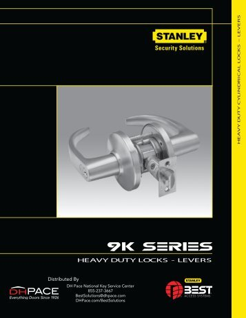 9K Series Heavy Duty Locks And Levers - DH Pace