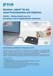 für den neuen Personalausweis und Chipkarten - SCM ...