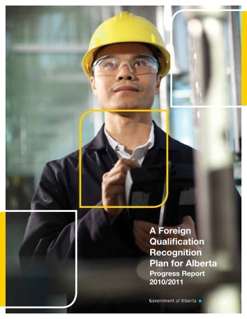 A Foreign Qualification Recognition Plan for Alberta - Enterprise and ...