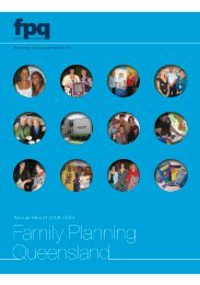 38th Annual Report 2008-2009 - Family Planning Queensland