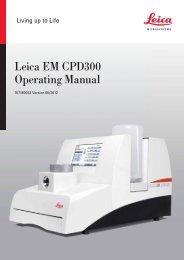 Leica EM CPD300 Operating Manual