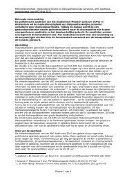 Projectbeschrijving Verbetering medicatieveiligheid bij ... - KNMP