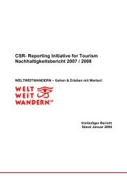 CSR- Reporting Initiative for Tourism
