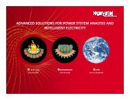 advanced solutions for power system analysis and intelligent ... - NPTI