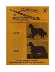 Alpenhorn Special, '37-'87 — 50th Anniversary (PDF) - Bernese ...