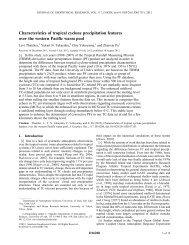 Characteristics of tropical cyclone precipitation ... - University of Utah