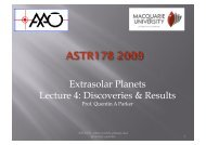 Extrasolar Planets Lecture 4: Discoveries & Results