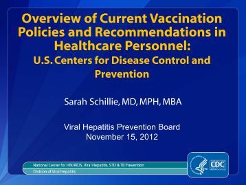 vaccine - Viral Hepatitis Prevention Board