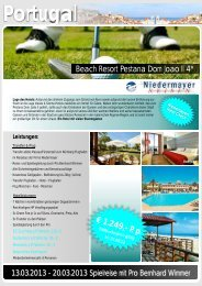 golfreise portugal - Reisebüro Niedermayer Reisen