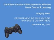 The Effect of Action Video Games on Attention, Motor Control ...