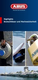 Highlights Bootschlösser und Marinesicherheit - Abus