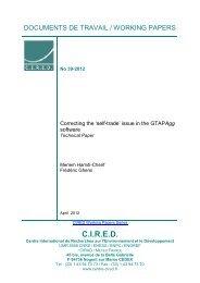 DT/WP No 2012-39 - Centre International de Recherche sur l ...