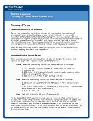Training Document: Glossary of Training Terms by ... - Active.com