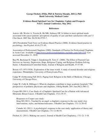 Bibliography - National Association of Catholic Chaplains