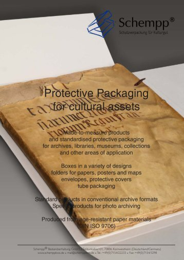 Protective Packaging for cultural assets - Schempp