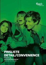 PRISLISTE DETAIL/CONVENIENCE - Carlsberg
