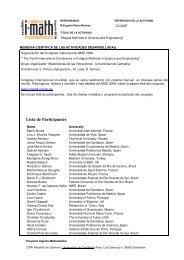 Lista de Participantes - Universidad de Cantabria