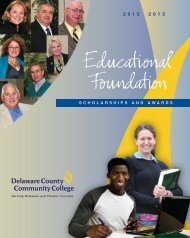 Scholarships - Delaware County Community College