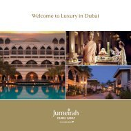 Welcome to Luxury in Dubai - Jumeirah Hotels & Resorts