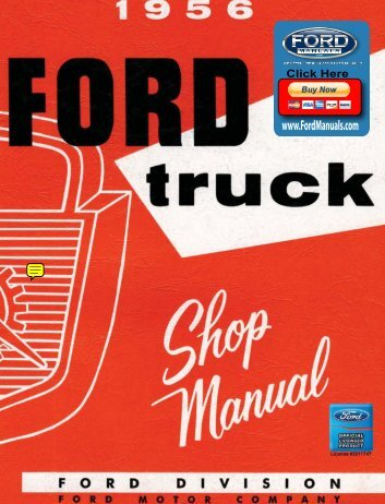 DEMO - 1956 Ford Truck Shop Manual - FordManuals.com
