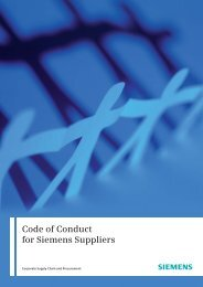 Code of Conduct for Siemens Suppliers