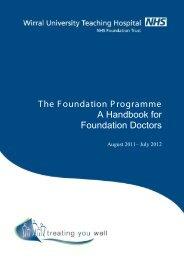 Foundation Trainee's Handbook 2011 - Wirral University Teaching ...