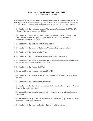 modern world history study guide chapter 5 absolute rh yumpu com Cold War Study Guide Quizlet world history cold war study guide answers