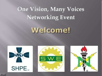 Joint Networking Event Slides - Society of Women Engineers