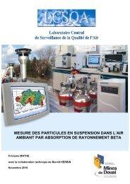 Mesure des particules en suspension dans l'air ambiant ... - LCSQA