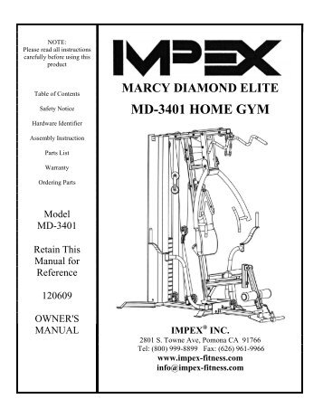 Marcy Mwm 981 Home Gym Impex Fitness