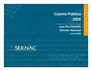 Cuenta pública del Sernac año 2006