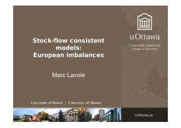 Stock-flow consistent models: European imbalances ... - Karl Betz