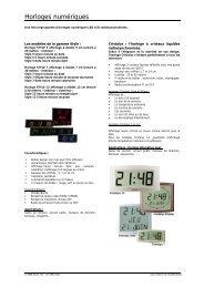 horloges digitales LCD, LED BODET