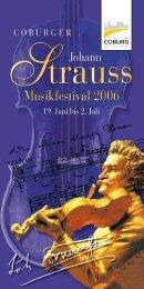 Coburger Johann Strauss Musikfestival 2006 - arts Ralph Braun