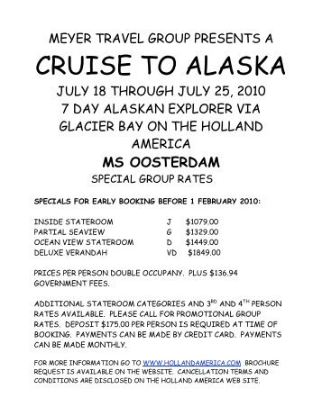 CRUISE TO ALASKA - Meyer Travel Group