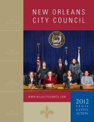 2012 Legislative Action (PDF) - New Orleans City Council
